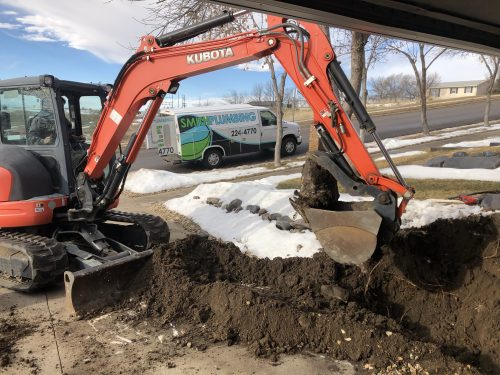 Main sewer line repair in Pierre SD