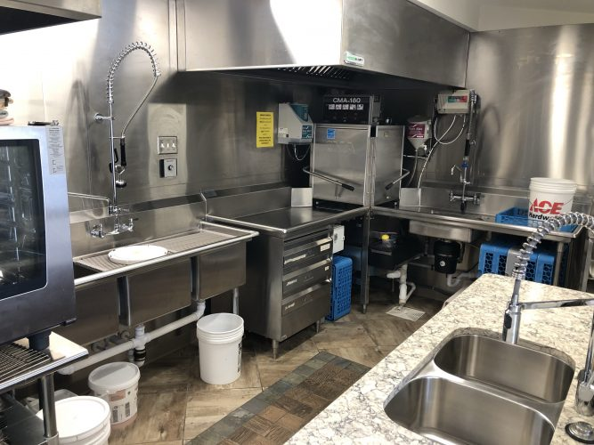Commercial kitchen plumbing project