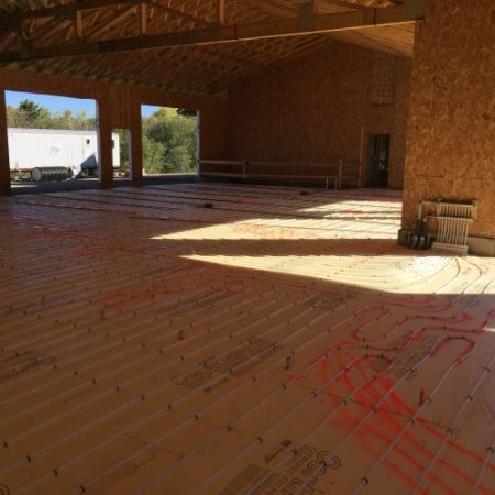 In floor heating system being installed near Pierre SD