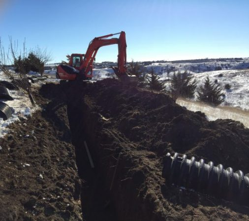 Septic system drain field repair near Pierre SD
